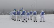 За первые двое суток лыжного перехода десантники преодолели первую тысячу километров и посетили более 15 населенных пунктов